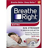Breathe Right Nasal Strips, Extra, 26-Count Box (2 Pack) 52 Strips (2 Pack of 26)