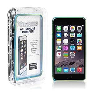 X-Tanium Aluminum Bumper Case for iPhone 6 Plus - Retail Packaging - 蓝绿色