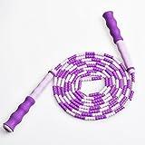 儿童花样竹节跳绳幼儿园卡通葫芦型手柄珠节跳绳儿童练习id=521587187272 (紫色(大人款))