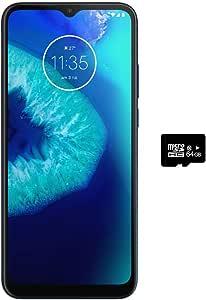 Motorola Moto G8 Power Lite (64GB, 4GB) 6.5英寸*大视野显示屏,双卡 GSM 解锁,全球4G LTE 国际型号(T-Mobile,AT&T,Metro,Cricket)XT2055-2 *蓝