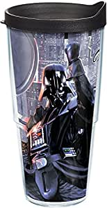 Tervis 1182175 星球大战 Darth Vader I Am Your Father 隔热玻璃杯 带包裹 透明 24 oz DARTH-VADER-FATHER