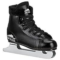 Lake Placid Starglide 男童双流道图案冰鞋 2 黑色 LP90B