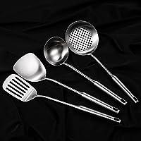CCKO厨具套装304不锈钢锅铲汤勺子铲子漏勺粉勺炒菜厨房炊具烹饪件套 (厨具四件套)