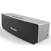 Bluedio BS-3 (骆驼) 便携式蓝牙音箱 革命性的3D钕磁铁结构/超大的52mm 驱动单元/丰富低音效果的无线音响/业界出色的3D立体声场景音效 礼品级零售包装(银色)