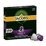 Jacobs  Lungo Intenso 咖啡胶囊 Intenso - 强度 8 - 200 Nespresso (R)*  兼容 铝质咖啡胶囊 (10 x 20 个胶囊)