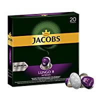Jacobs 咖啡膠囊 濃烈稀飲意式特濃(Lungo Intenso),濃度8/12,200粒兼容Nespresso,10 x 20杯