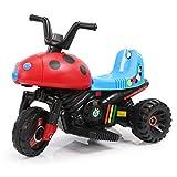 HAPPYBRAND儿童电动车 电动摩托车 小孩电动三轮车玩具车 宝宝童车可坐8918 (红)