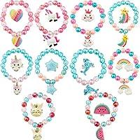 SOTOGO 20 件女孩手链戒指套装 小女孩宝石套装 女孩 扮演游戏 打扮 西瓜风格