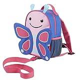 Skip Hop Zoo 小孩幼童安全背带滚轮式背包、适合 2 岁以上、花朵蝴蝶样式设计