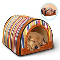Barelove 便携式小型宠物屋软床猫狗宠物屋可清洗带可拆卸垫子