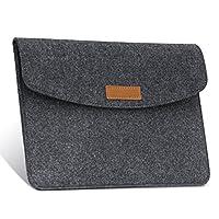 美国MoKo 7-8英寸内胆包 毛毡包 苹果Apple iPad mini 1/2 / 3/4, Samsung Galaxy Tab S2 8.0 / Tab A 8.0 / Tab 4 7.0 & 8.0英寸平板笔记本电脑包 保护套 深灰色