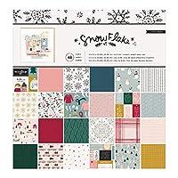 Crate Paper 350976 雪花,24 种设计/ 每张纸板2 个,多种颜色