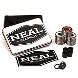 Neal Precision 滑板轴承/3 种不同类型 - 陶瓷 - 瑞士- 钛/608rs - 滑板 - 长板 - 直线 - 滑板车。 **佳轴承。