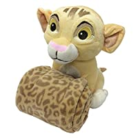 Disney Lion King Simba's Wild Adventure Super Soft Plush and Blanket Gift Set, Ivory, Brown, Butter