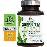98% 绿茶萃取 1000 毫克 含有 EGCG - 多酚 - 温和咖啡因 - 补充剂 240 Capsules 240.00