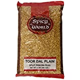 Spicy World Toor Dal Plain (Split Pigeon Peas), 2 Pound (Pack of 12)