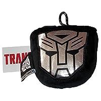 transfomers AUTOBOTS 毛绒玩具银徽章行李标签带小号拉链袋