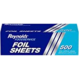 Reynolds Foodservice 铝箔纸(预裁卷发,500 片)