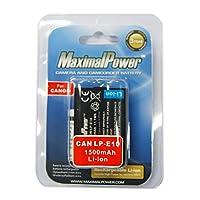 maximalpower 佳能 LP-E10 相机摄像机锂电池 1500mAh 适用于佳能 EOS 1100D T3 X50等