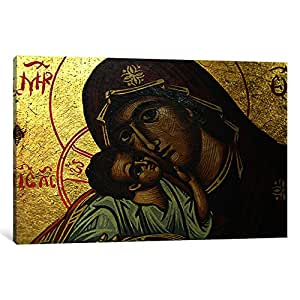 iCanvasART 22-1PC3-40x26 Christian Icon Virgin Mary Canvas Print by Unknown Artist, 0.75 by 40 by 26-Inch