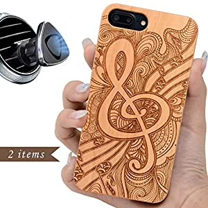 """Character iPhone 7 6 8 and Plus Case Wood Engraved Artworks with or without Name Music Flower iPhone 7/6/8 4.7"""""""