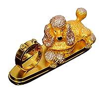 GREAT LIFE 汽车香水座式摆件车载车用香水水晶贵宾犬创意车内饰品 土豪金(供应商直送)