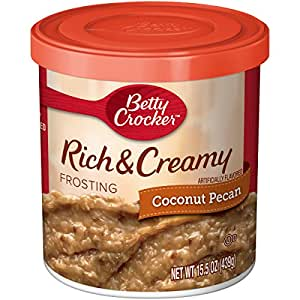 Betty Crocker Frosting, Rich & Creamy Gluten Free Frosting, Coconut Pecan, 15.5 Oz Canister (Pack of 8)