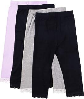 MyKazoe 女童超软无痕七分裤带蕾丝花边(4 件套)