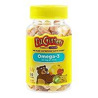 L'il Critters 小熊糖 儿童Omega 3健脑小熊软糖 60粒
