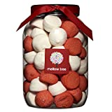 Mallow Tree Strawberry and Vanilla Flavoured Marshmallow Balls in a Gift Jar 600 g