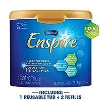 Enfamil 美赞臣铂睿 Enspire 蓝臻 婴儿配方奶粉&补充装,102.5 盎司/约2905克
