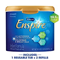 Enfamil 美贊臣鉑睿 Enspire 藍臻 嬰兒配方奶粉&補充裝,102.5 盎司/約2905克