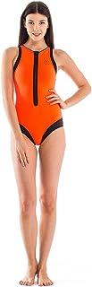 GlideSoul 女式活力条纹系列冲浪风格连体泳衣