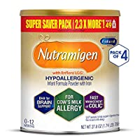 Enfamil 美贊臣 Nutramigen 安敏健 0-12個月 LGG深度水解幼兒配方奶粉 無乳糖防牛奶過敏 788g/罐 4罐裝