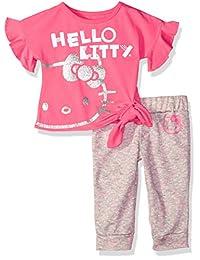 Hello Kitty 女婴慢跑裤子套装带时尚上衣
