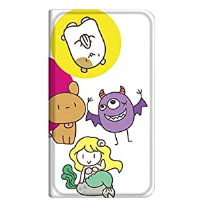 智能手机壳 手册式 对应全部机型 薄型印刷手册 cw-241top 套 手册 人物 超薄 轻量 UV印刷 壳WN-PR131353-S Disney Mobile on SoftBank DM015K 图案D