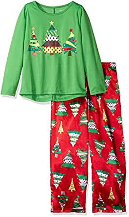 Komar Kids Girls' Christmas Tree 2pc Sleepwear Set 红色 X-S