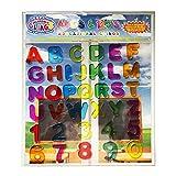 ABC & 123 凝胶贴 - 儿童全字母和数字窗户贴 - 36 个可移除和可重复使用的教育性凝胶贴花 适用于家庭、飞机、课堂等