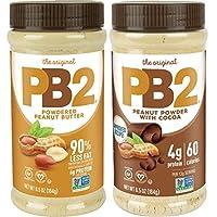 PB2 铃形种植粉末花生酱和优质巧克力,6.5盎司(约188.5克)(2件装)