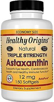 Healthy Origins Astaxanthin (AstaPure) 12 mg, 150 Softgels