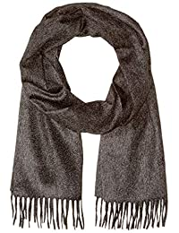 Hugo Boss 男式 T 棉花针织羊毛围巾,