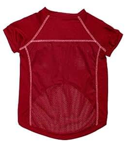 狗狗区域宠物足球运动衫,L 码,深红色
