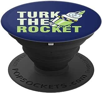 太空探险家银河探险火箭之火箭 PopSockets 手机和平板电脑握架260027  黑色
