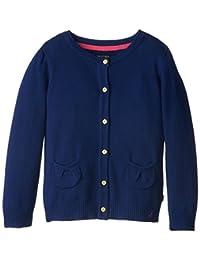 Nautica Girls' Jersey Cardigan Sweater with Pockets