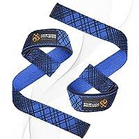 DMoose 健身举重带(一对)- 优质,调节环,氯丁橡胶垫料,加固缝合,防滑支撑 - *大限度地提高举重力,力量提升,强度