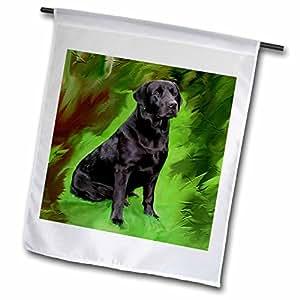 Dogs Labrador Retriever - 黑色拉布拉多猎犬 - 旗帜 18 by 27-inch fl_3892_2