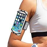 WANPOOL 手机臂包 手机臂袋 运动臂带 臂包 臂套 运动手机包 手机套 手机支架 跑步 户外 运动 健身装备 男女锻炼臂套 防摔 防滑 通用型 - (4.5-6 英寸)