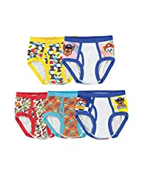 Handcraft Little Boys' Paw Patrol Brief, Pack of Five