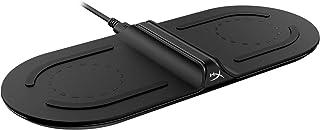 HyperX 充电底座,Qi 认证无线充电器 – 双垫 – *多为两个设备充电 – 高达 10W 充电 – 电池指示灯 – 兼容 Qi 设备