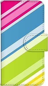 智能手机壳 手册式 对应全部机型 印刷手册 wn-246top 套 手册 条纹图案 UV印刷 壳WN-PR014377-S AQUOS PHONE es WX04SH B款